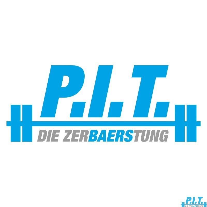P.I.T.®-Aufkleber (Logo, Blau-Silber)