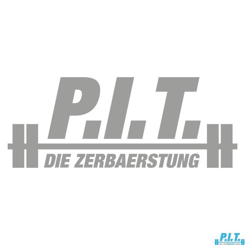 P.I.T.®-Aufkleber (Logo, Silber)