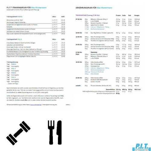 Trainings- & Ernaehrungsplan